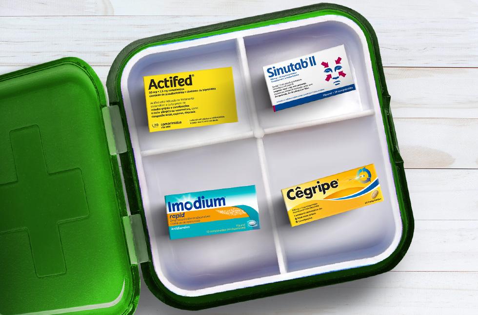 Caixa dos medicamentos J&J